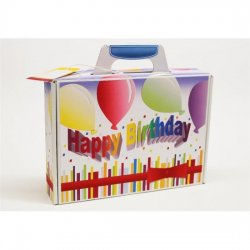 Deko-cut Geschenkkoffer - Bastelset - Happy Birthday -Whiteline